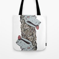 Wolf Head Totem Tote Bag