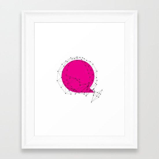 Q (abstract geometrical type) Framed Art Print