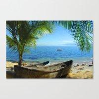 Boats At Las Caletas Canvas Print