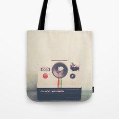 portrait of a polaroid ...  Tote Bag