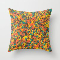 Panelscape: colours from Space Filler Throw Pillow