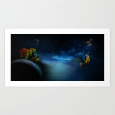 Outer space Art Print