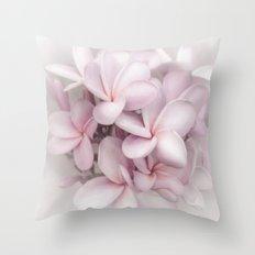 Plumeria love Throw Pillow