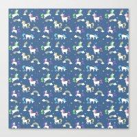 Unicorns And Rainbows - … Canvas Print