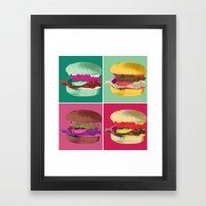 Pop Art Burger #2 Framed Art Print