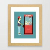 Claw Machine Framed Art Print