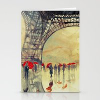 Winter in Paris Stationery Cards