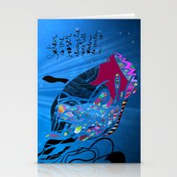 John 8/44+TheFish Nonrandom-art2 Stationery Cards