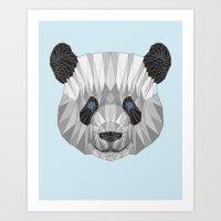 panda Art Prints featuring panda by Nir P