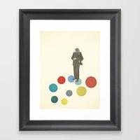 Bird Man Framed Art Print