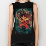 Biker Tank featuring Kid Goku by Sirenphotos