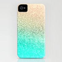 iPhone 4s & iPhone 4 Cases featuring GOLD AQUA by Monika Strigel