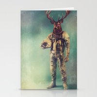 deer Stationery Cards featuring Without Words by rubbishmonkey