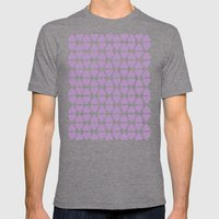 Diamond Hearts Repeat O Mens Fitted Tee Tri-Grey SMALL