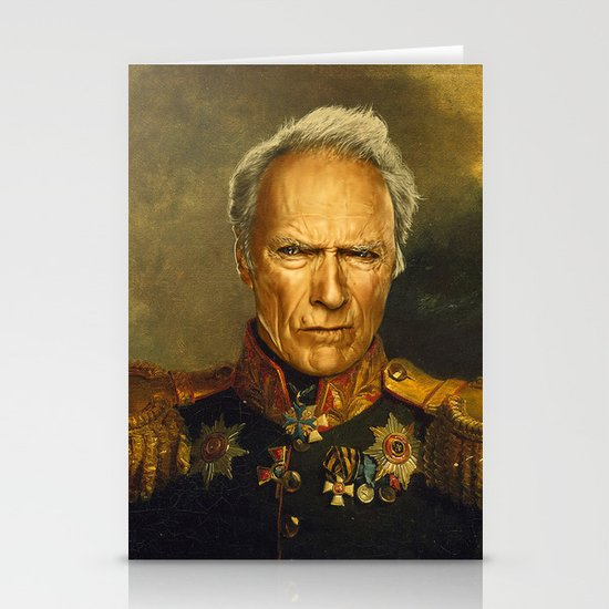 Clint Eastwood - replaceface Stationery Card