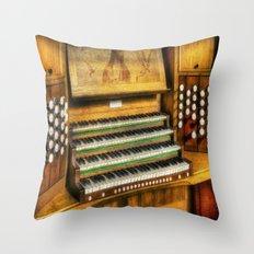 Church Organ Art Throw Pillow