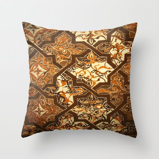 Islamic Heaven Design Done With Henna  Throw Pillow