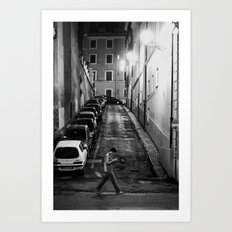 Night stroll Art Print