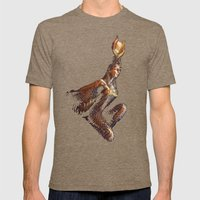 Goddess Isis Mens Fitted Tee Tri-Coffee SMALL
