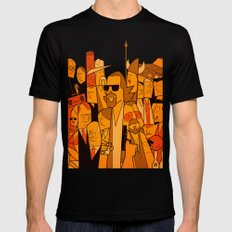 The Big Lebowski Mens Fitted Tee Black SMALL
