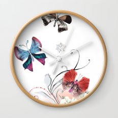 Butterfly Spring Wall Clock