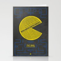 Pac-Man Typography Stationery Cards