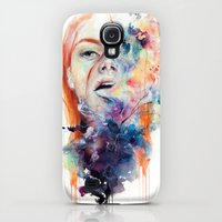Galaxy S4 Cases featuring this thing called art is really dangerous by agnes-cecile