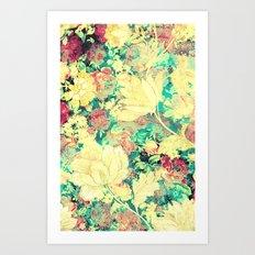 Vintage Flowers XXXVIII - for iphone Art Print