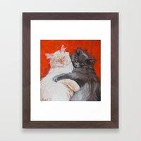 Whity & Gray Framed Art Print