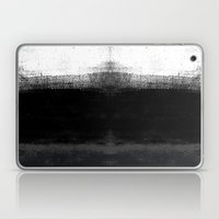 Ocean No. 2 - Minimal ocean abstract painting in black and white Laptop & iPad Skin