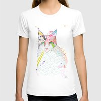 Cat / March Womens Fitted Tee White SMALL