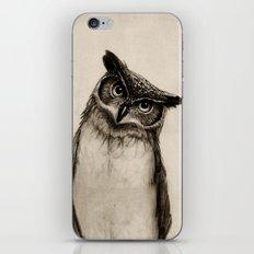 Owl Sketch iPhone & iPod Skin