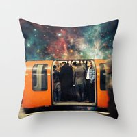 Mind The Galaxy | London… Throw Pillow