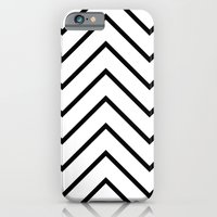 Black and White Chevron iPhone 6 Slim Case