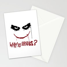 Joker - Why so serious? Stationery Cards