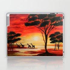 African sunset Laptop & iPad Skin