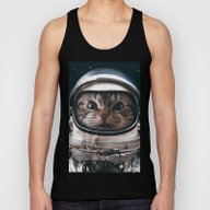 Space Catet Unisex Tank Top