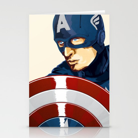 Captain America Stationery Card