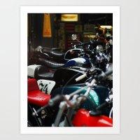 Motorcycles Art Print