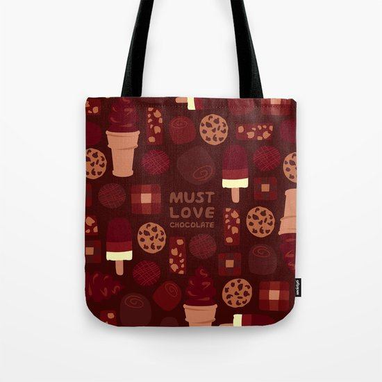 Must Love Chocolate Tote Bag