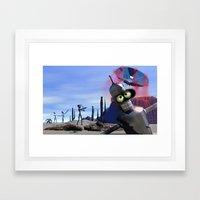 Lost In Middle Of Desert… Framed Art Print