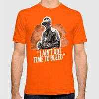 Badass 80's Action Movie Quotes - Predator Mens Fitted Tee Orange SMALL