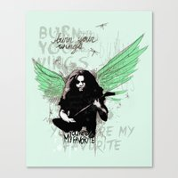 Burn Your Wings Canvas Print