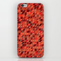 Quilted Reds / Retro Tri… iPhone & iPod Skin