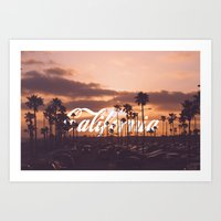 california Art Prints featuring California by thecrazythewzrd