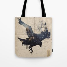 Space Raven Tote Bag