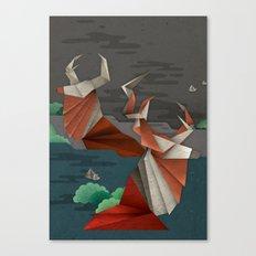 Origami Deer Canvas Print