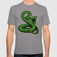 SNAKE Mens Fitted Tee Tri-Grey SMALL