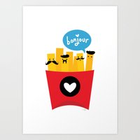 French Fries Art Print