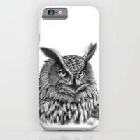 iPhone & iPod Case featuring Eurasian Eagle Owl by S-Schukina